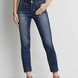 AE Vintage Hi-Rise Button Fly Jeans   New! 10 & 12